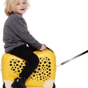 "Samsonite trolley kids cavalcabile in polipropilene ""Dream Rider"" Fantasia 109640.8719 cheetah"