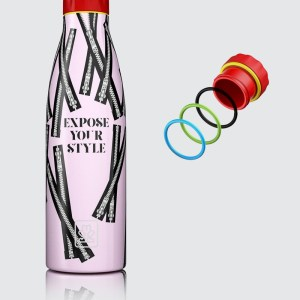 "Bboom bottiglia termica in acciaio ""Thermal"" Fantasia BB.11 zip"