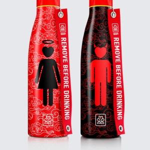 "Bboom bottiglie termiche in acciaio 2 pezzi ""Thermal"" Fantasia BB21BB22. angelo/diavolo"