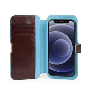 "Piquadro cover magnetica in pelle per iPhone® 12 ""B2R"" Marrone AC5623B2R.MO"
