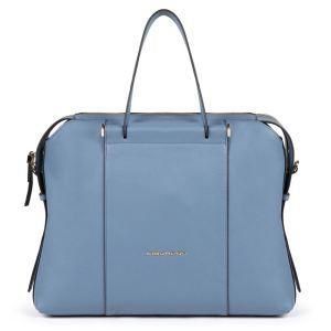"""Piquadro borsa cartella da lavoro in pelle """"Circle"""" Azzurro CA4577W92.AV2"""