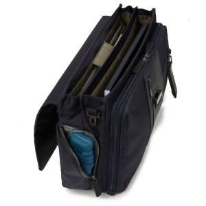 """Piquadro borsa cartella da lavoro in tessuto e pelle """"BR – Brief"""" Blu CA1045BR.BLU"""