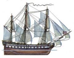 На воду спущен первенец Черноморского флота России - парусный корабль «Слава Екатерины»
