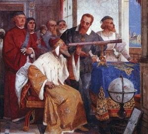 Галилео Галилей преподнес герцогу Тосканскому посвященную ему книгу
