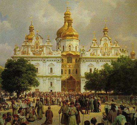 В.Верещагин «Великая церковь Киево-Печерской лавры» (1905)