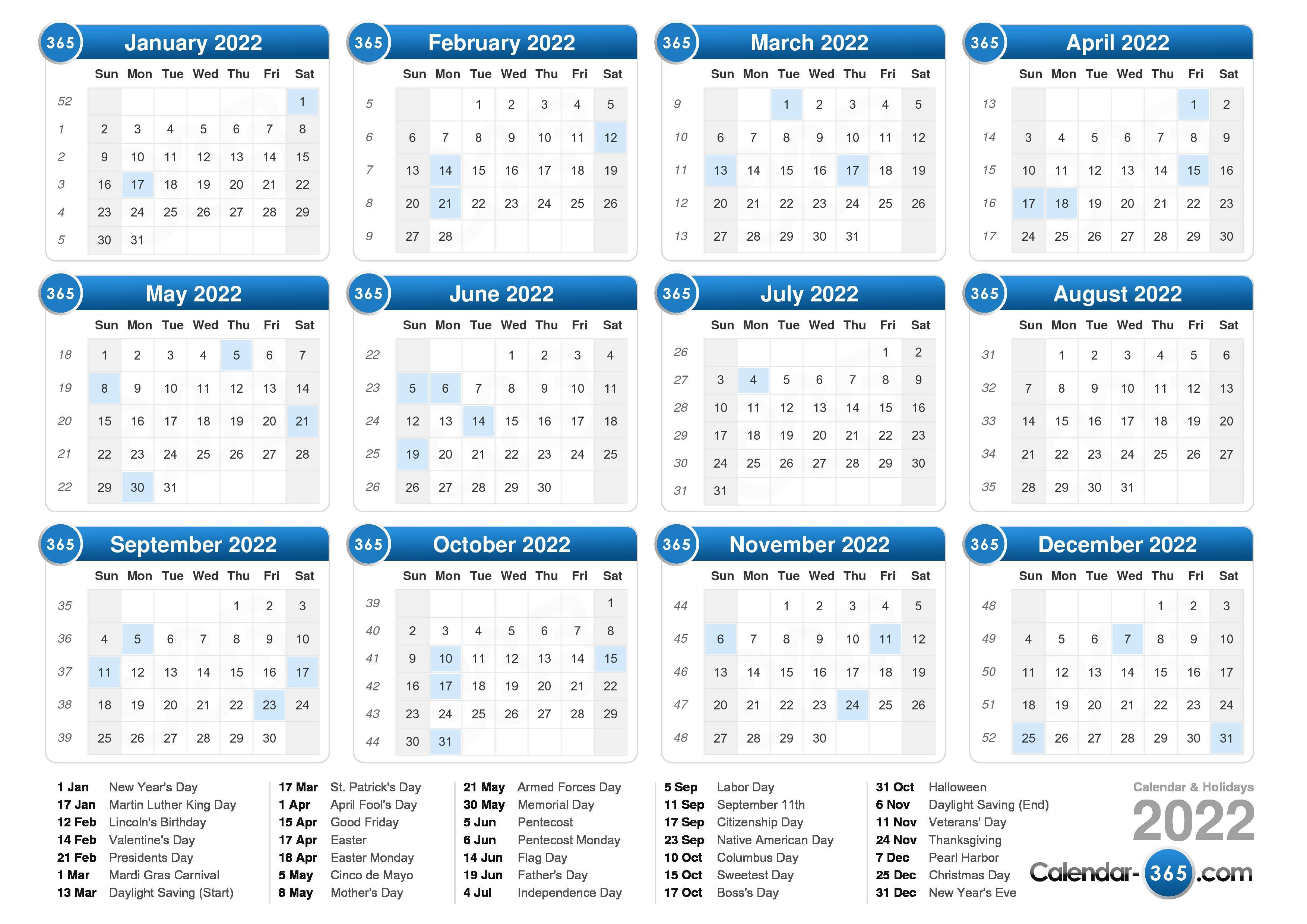 Students and working people use a. 2022 Calendar