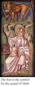 marcu evanghelistul - mozaic cu leul