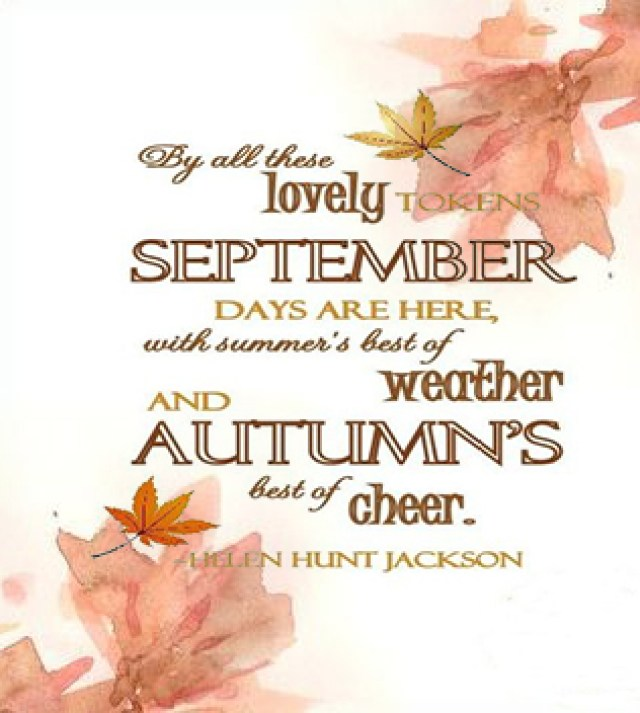 Hello September Wishes