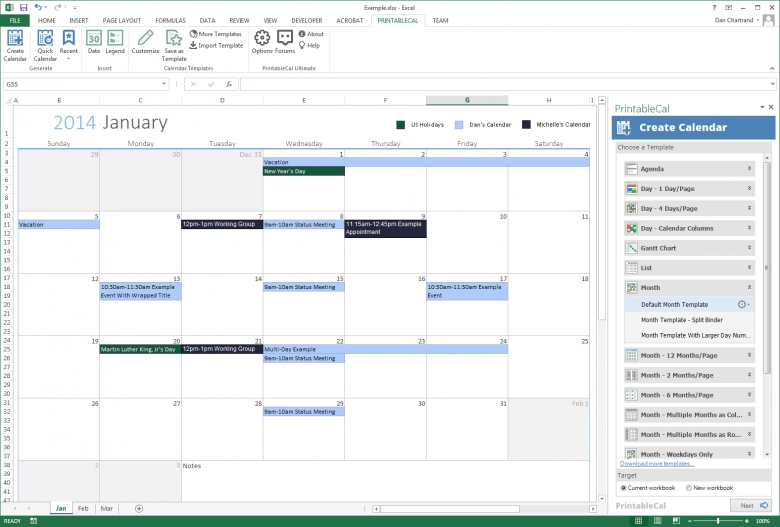 Printable Schedules Free Monthly Work