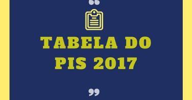 tabela do pis 2017