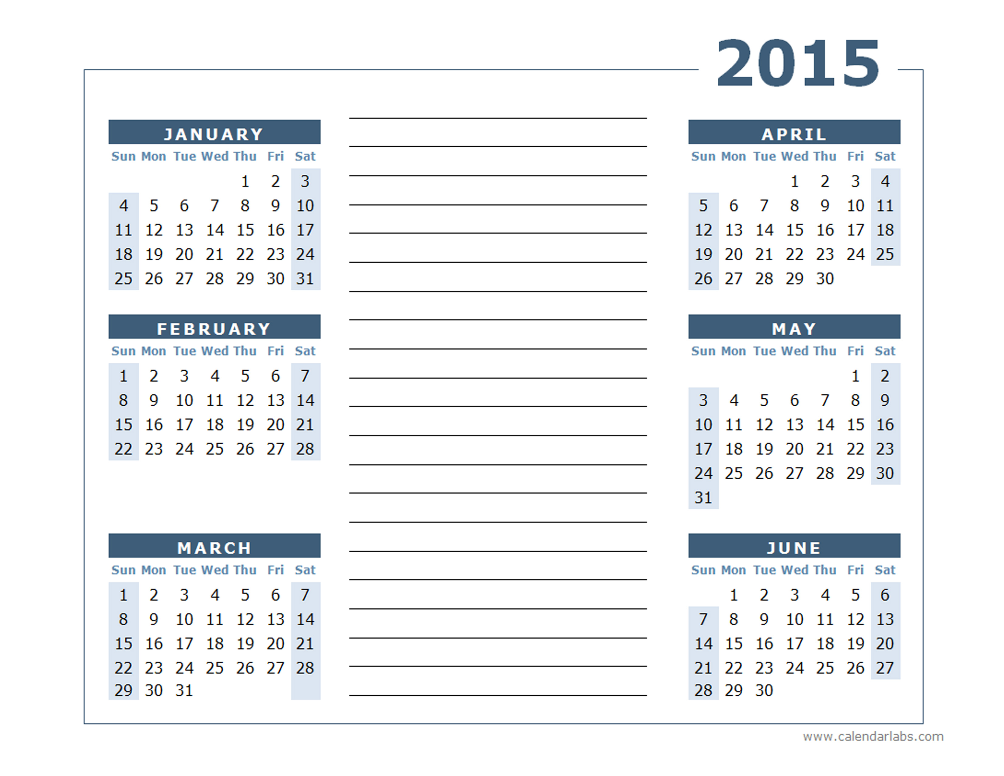 Yearly Calendar Two Page