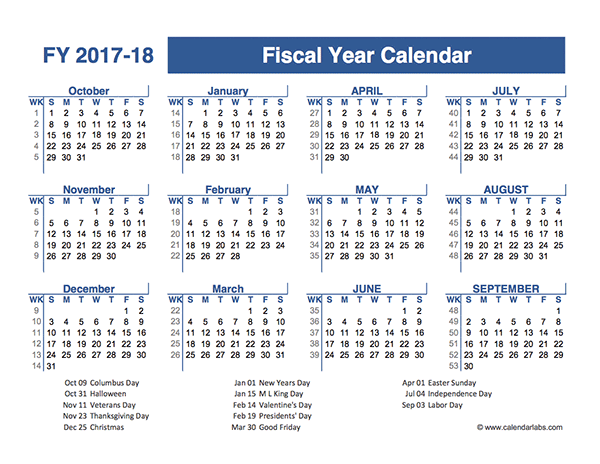2018 calendar financial year