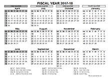 2018 calendar fiscal year