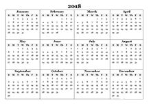 2018 calendar year