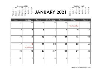 An online monthly planner has several advantages over a printable monthly planner: Printable 2021 Word Calendar Templates Calendarlabs