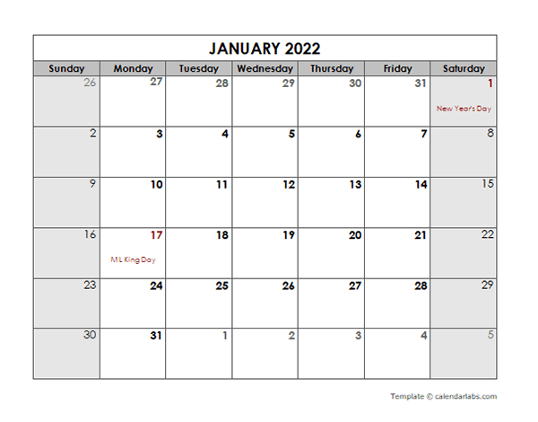 Planning for the future can be a difficult and stressful process. 2022 Monthly Calendar with US Holidays - Free Printable ...