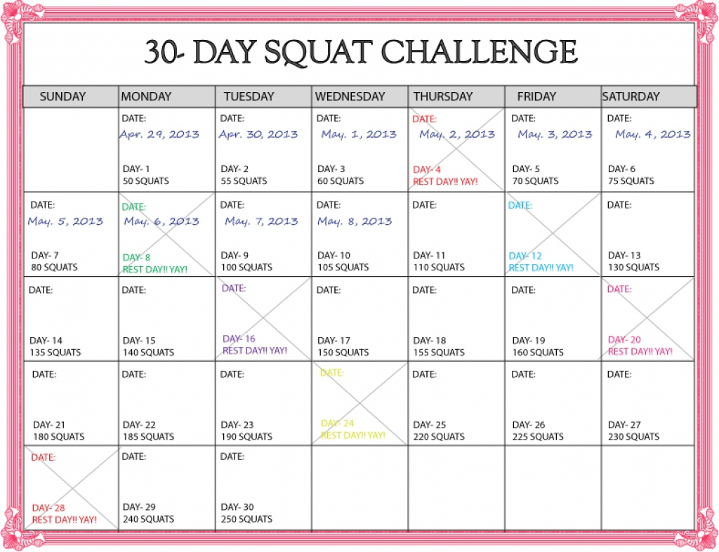 30 day ab workout schedule