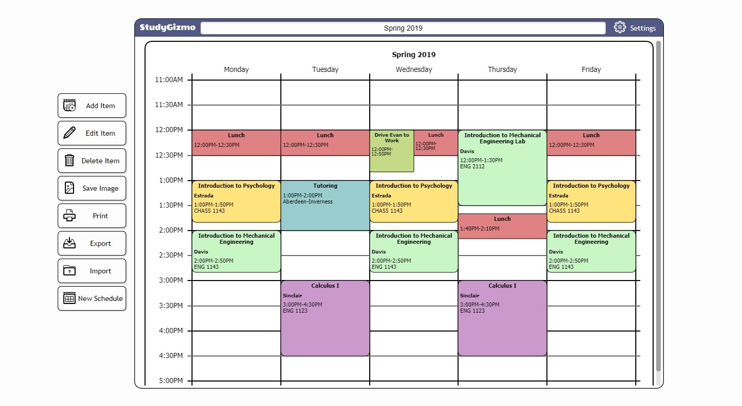 Free Color Coded Calendar Template