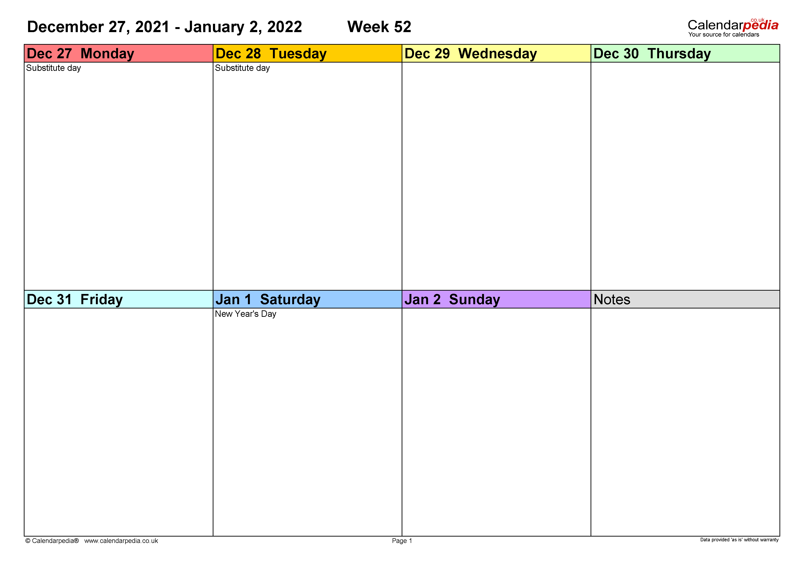 2022 calendar in printable format with. Weekly calendar 2022 UK - free printable templates for Excel