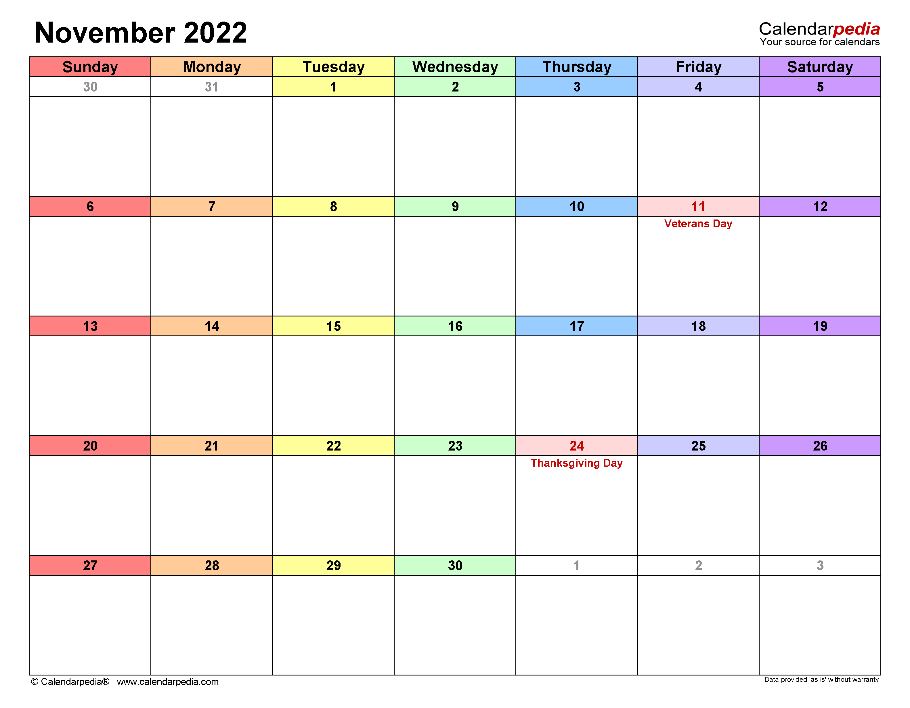 It's easy to get distracted. November 2022 Calendar | Templates for Word, Excel and PDF
