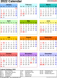 New events can be added to the calendar through text messages while you're on the go, and the calend. 2022 Calendar - Free Printable Templates