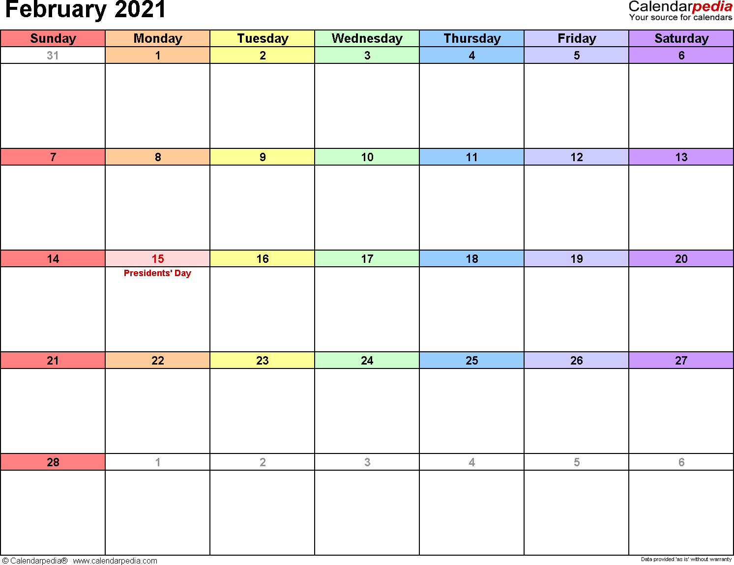 """Astrology this lunation is also called the """"pink moon"""" and it's a powerful one. February 2021 Calendars for Word, Excel & PDF"""