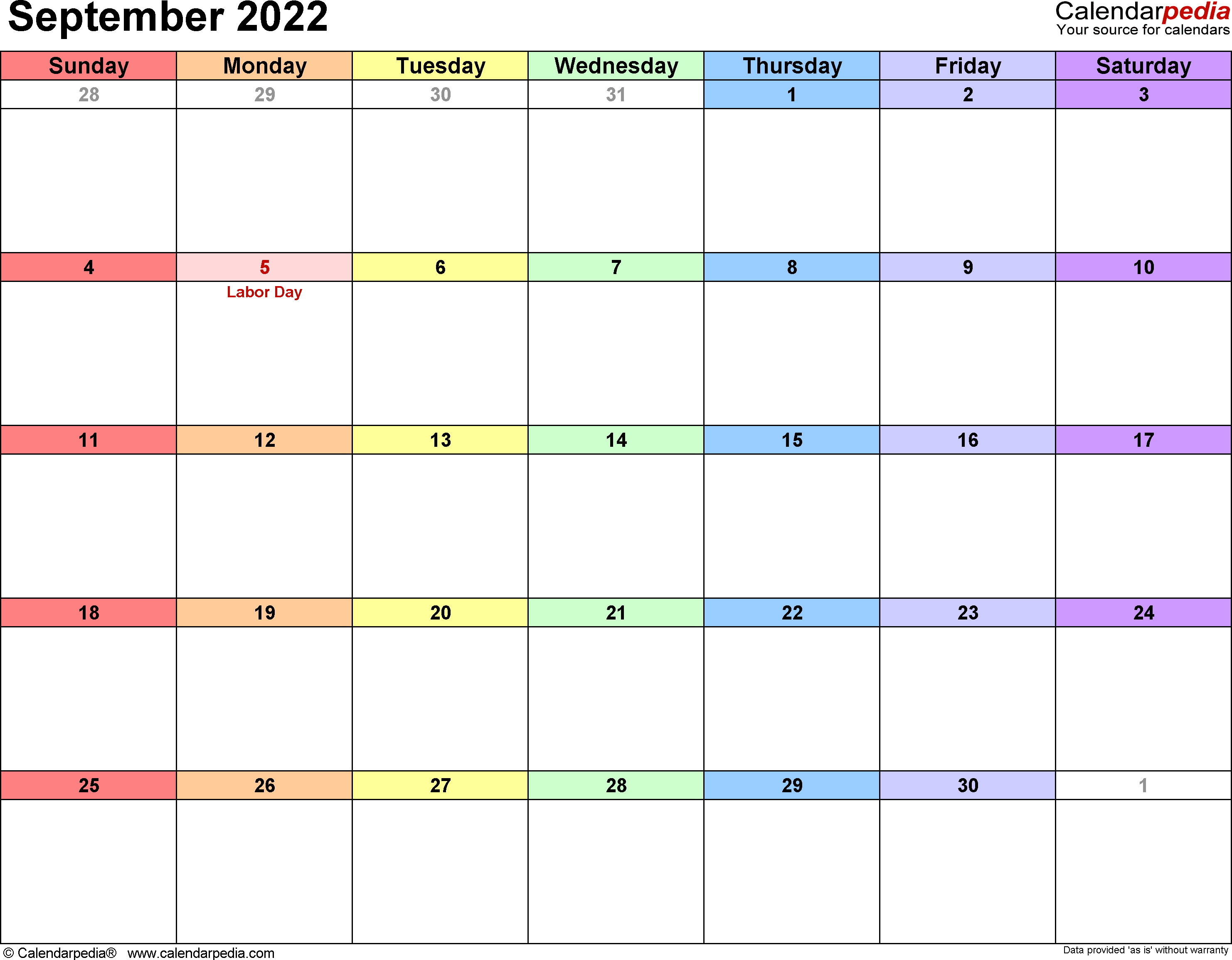 september 2022 calendar as image format September 2022 Calendars for Word, Excel & PDF