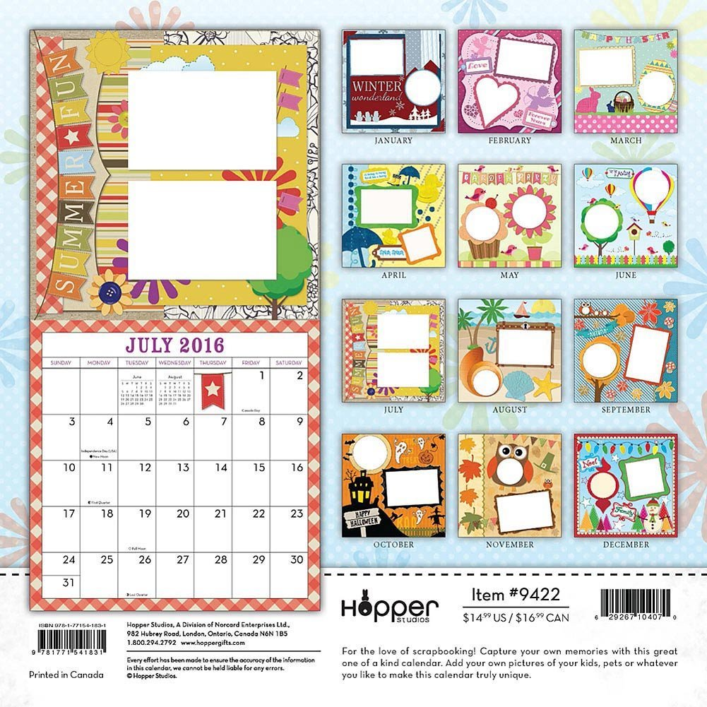 Make my own calendar - Blank Calendar Kit