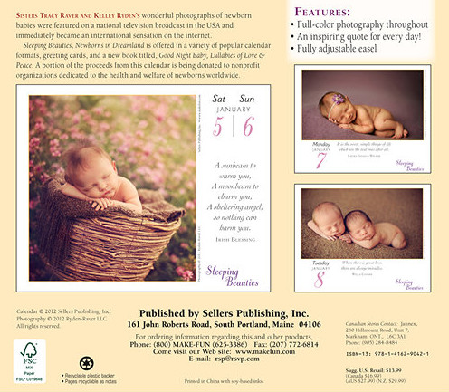 Raver Ryden Baby Calendars 2013
