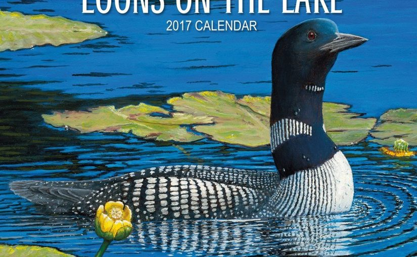 Waterbird Calendar: Loons on the lake Calendars 2017