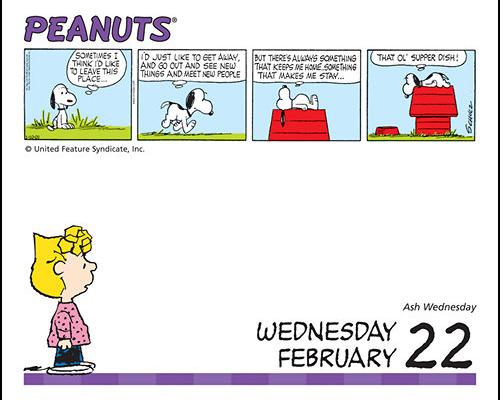 Snoopy desk calendars 2017