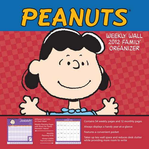 Weekly Family Wall Calendar: Snoopy 2017
