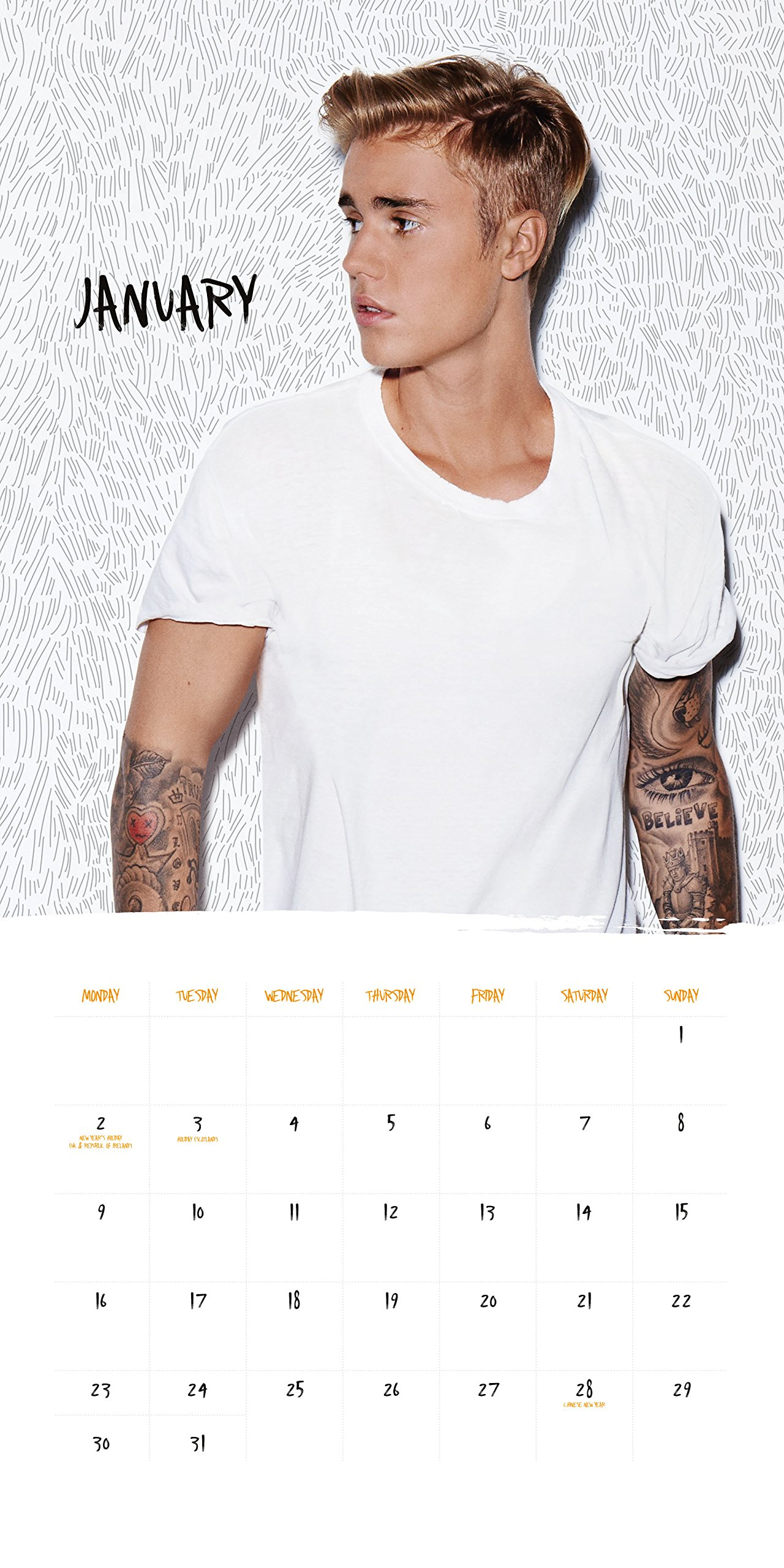 How is justin bieber dating 2019 calendar
