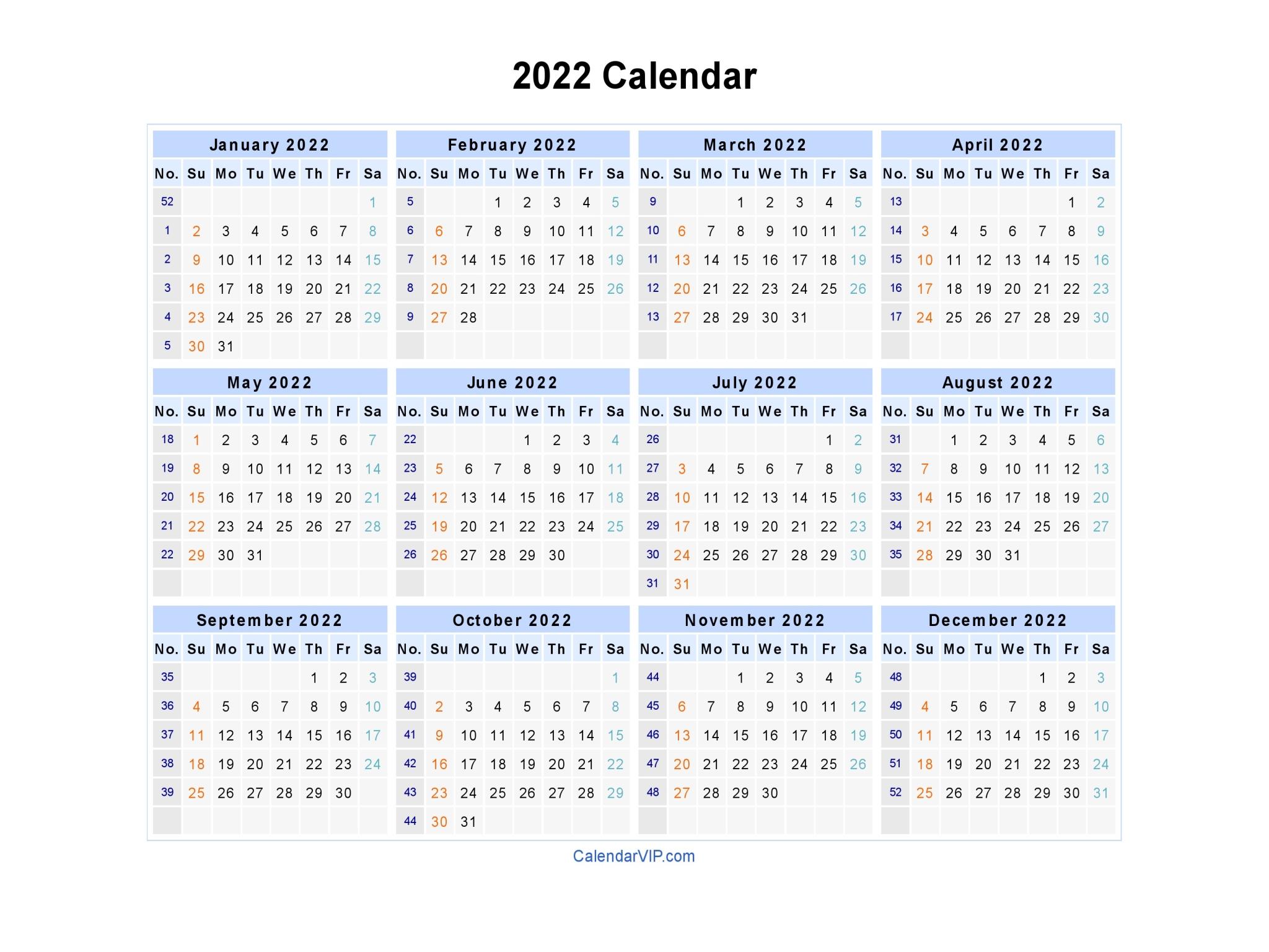 Blank printable calendar may 2022 pdf. 2022 Calendar - Blank Printable Calendar Template in PDF ...