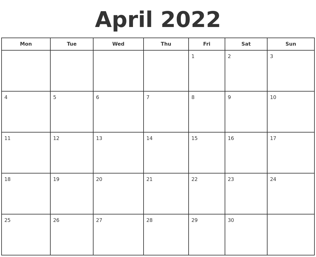 It is useful for quick referencing on dates, write down quick notes founder of lifehack read full profile sometimes it is handy to have a calendar for you. April 2022 Print A Calendar