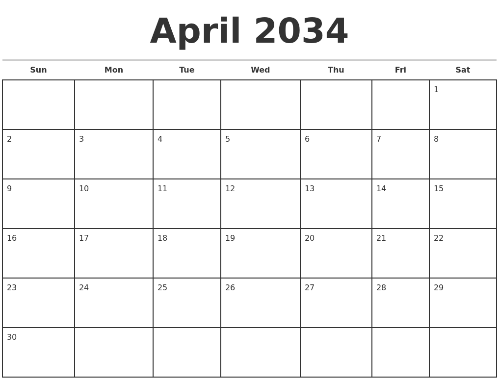 Image Result For Monthly Calendar Template Printable