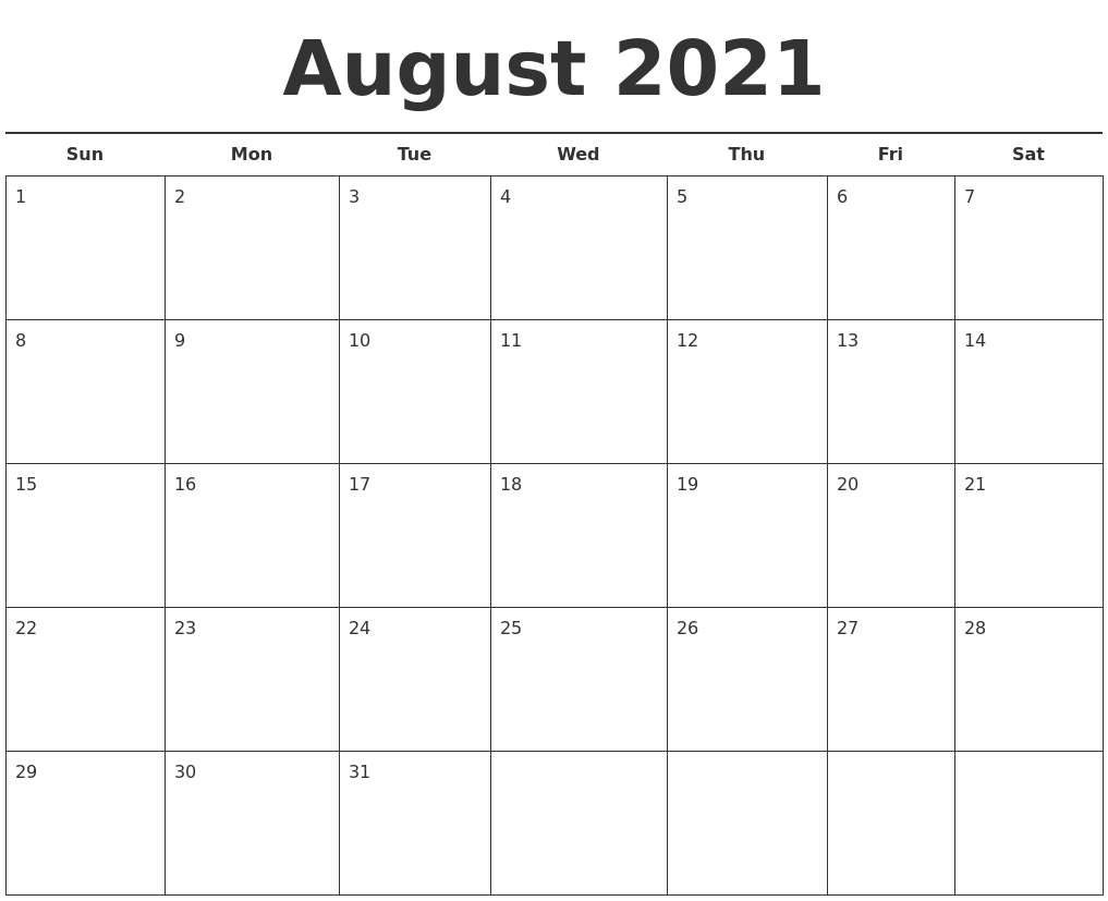 Image Result For Printable Free Calendar Template