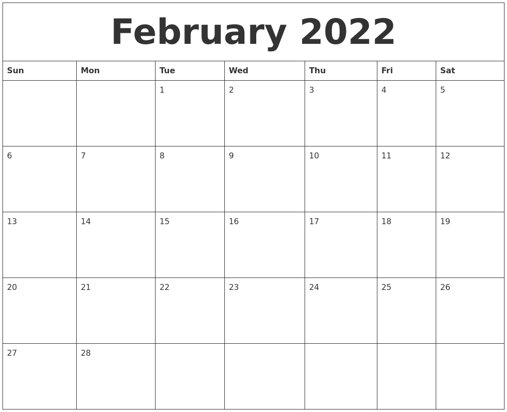 It seems like everyone is busier these days, and keeping up with everything from work deadlines to kids' sports practices to your pet's vet appointments can make things complicated — there's a lot to juggle, after all. February 2022 Calendar Monthly