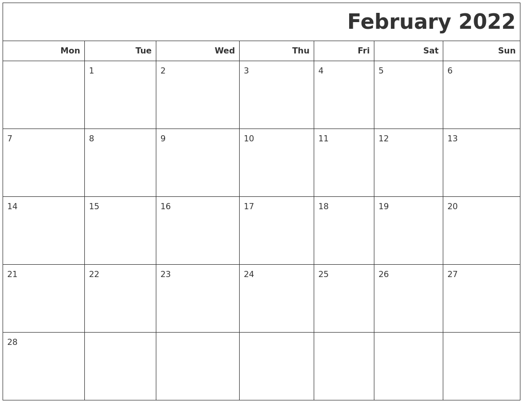If you have any questions regarding these events, please contact us. February 2022 Calendars To Print