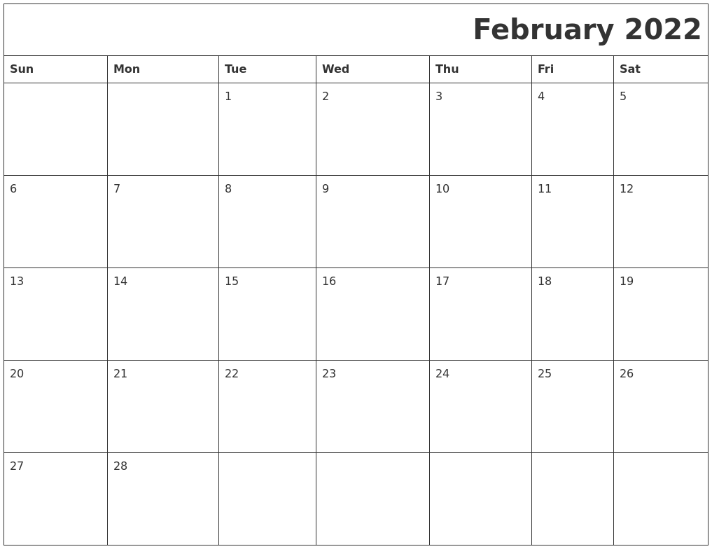 And while we're used to running from task to task in a flurry to get everythi. February 2022 Printable Calender