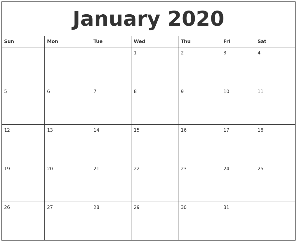 Image Result For Calendar Template January