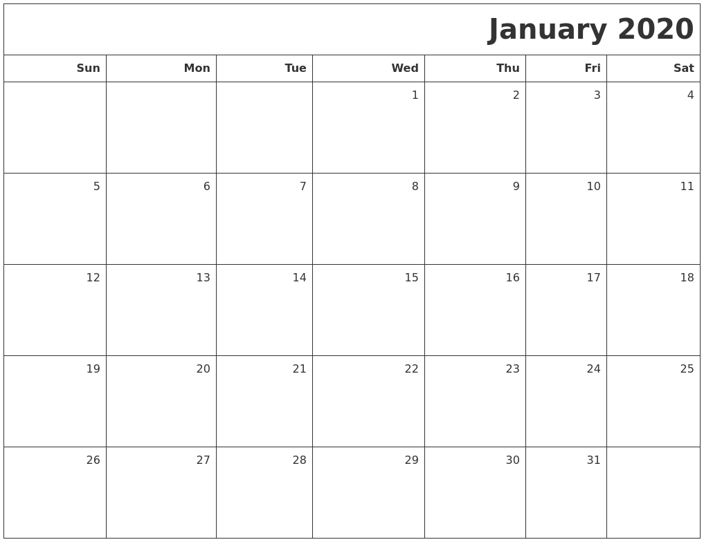 Image Result For Calendar January