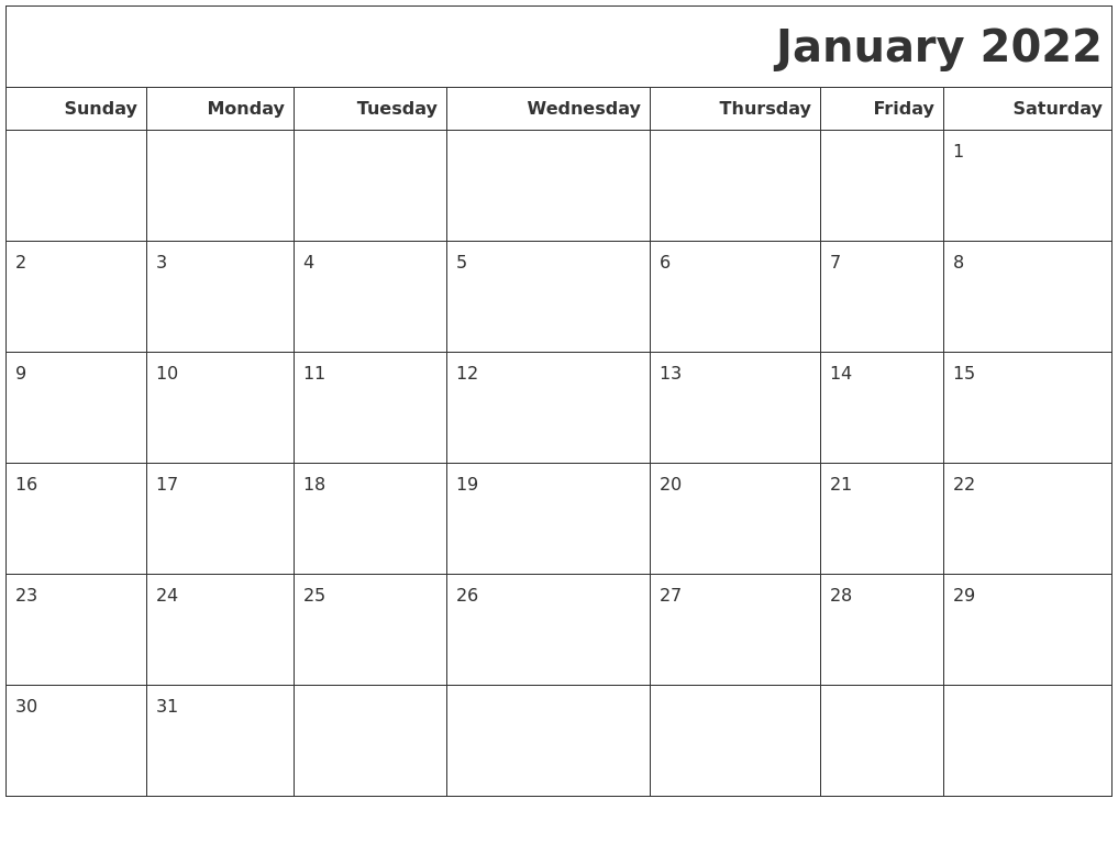 After the festive holiday season, the cold, bleak days of winter can see. January 2022 Calendars To Print