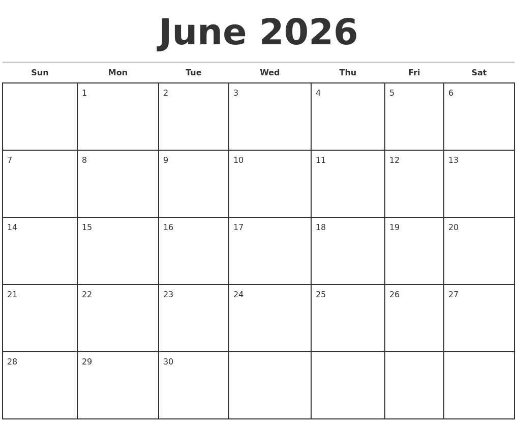 Image Result For Printable Monthly Calendar Template