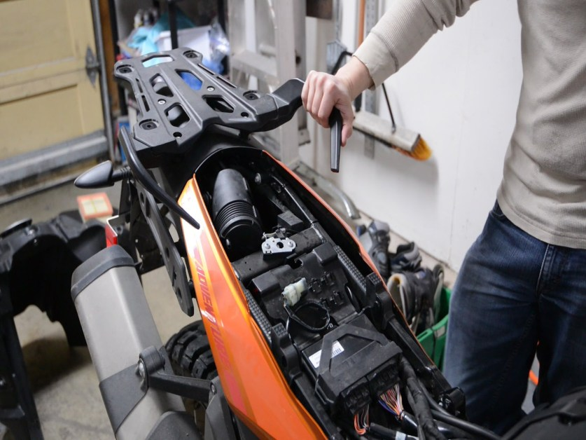KTM 1190 Charcoal Canister Removal