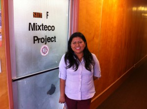 Irene Gomez from the Mixteco/Indígena Community Organizing Project in Oxnard is working hard to spread the word about the new law to undocumented families.