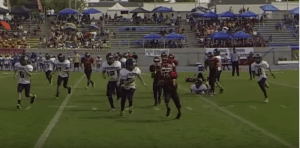 Clovis Unified School District offers competitive football for students beginning in fifth grade. Photo: YouTube