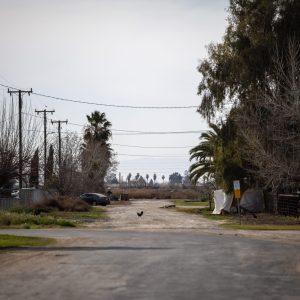 A street in the Kern County community of El Adobe, California.