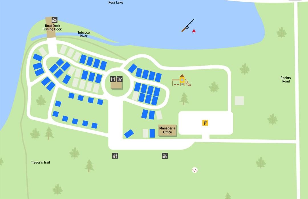 Calhoun Campground Map