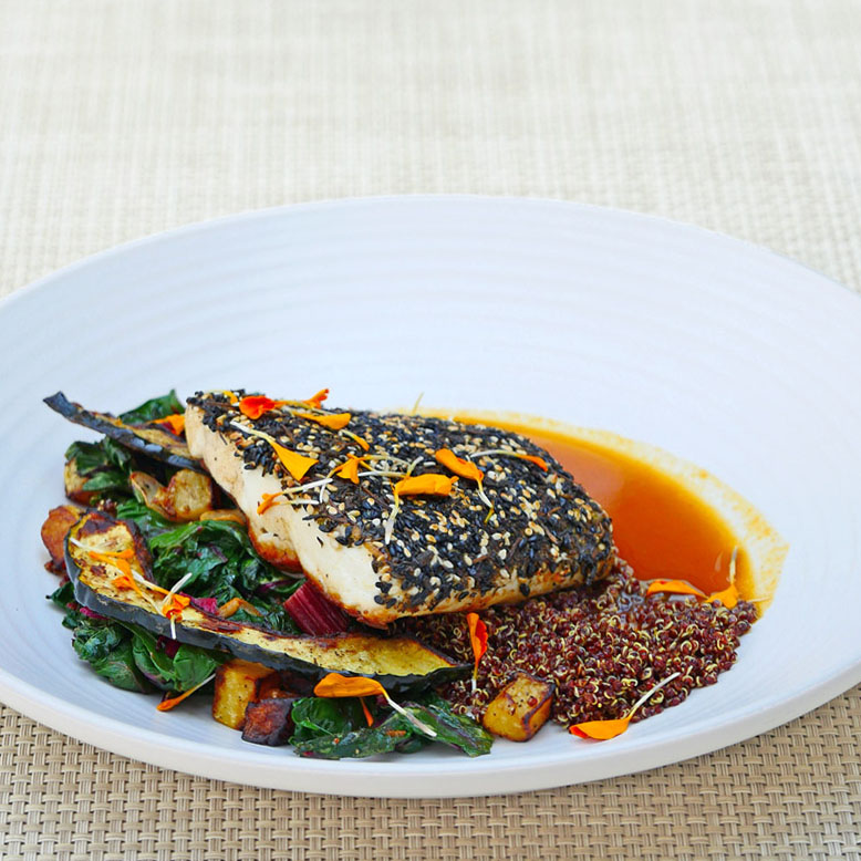 Herb Crusted Fish of the Day at Mad & Vin